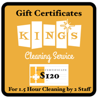 Cleaning Service Gift Certificates
